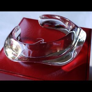 Baccarat NWT Clear Lead Crystal Oceane Bracelet